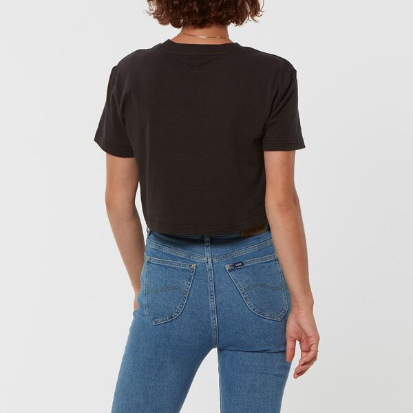 CLASSIC CROP TEE WASHED BLACK, WASHED BLACK, hi-res