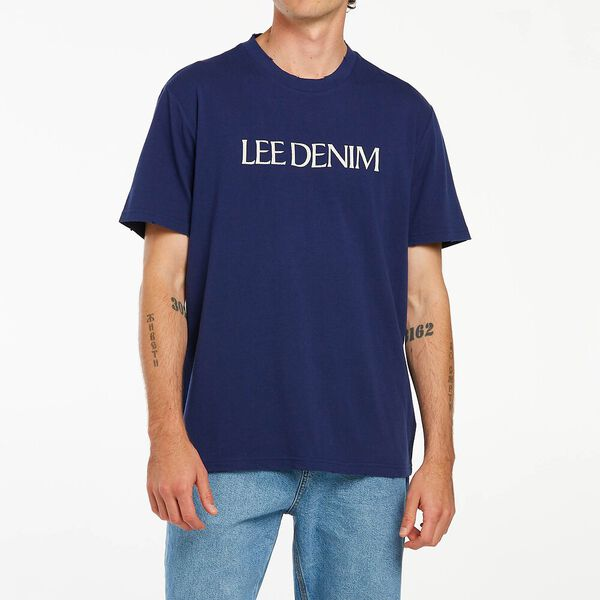 Lee Denim Tee Worn Navy