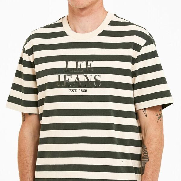Lee Yongma 89 Tee Forest Stripe, Forest Green Stripe, hi-res