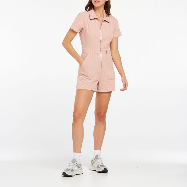 Georgia Romper, Dusty Pink, hi-res