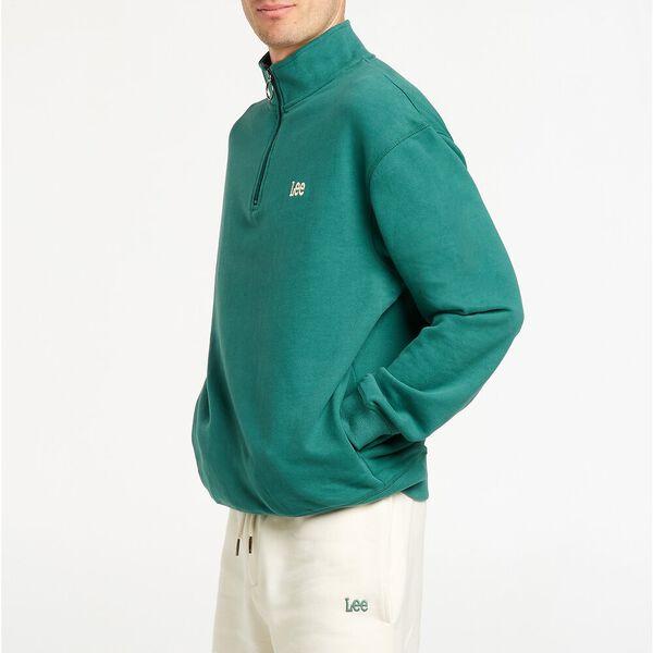 Leesure Zip Sweater Matcha, Matcha, hi-res