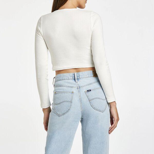 Brodie Long Sleeve Top, Vintage White, hi-res