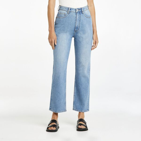 Hourglass High Straight Jean, Virtue Blue, hi-res