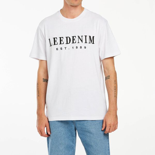 Bodoni Embroidery Tee White