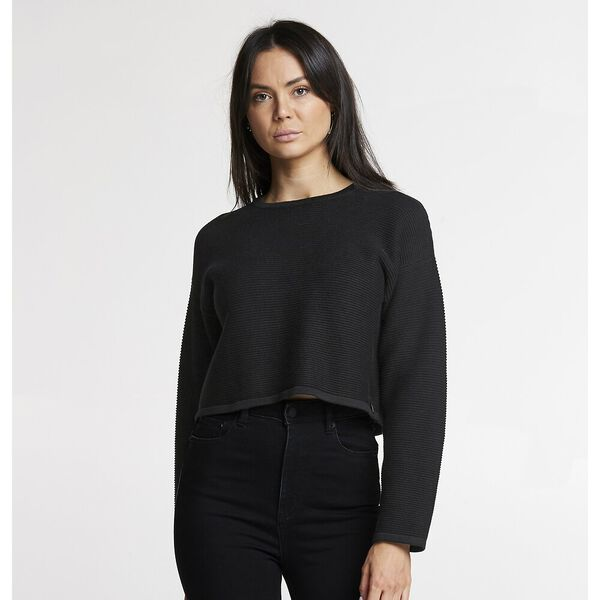 CROP LINK KNIT BLACK