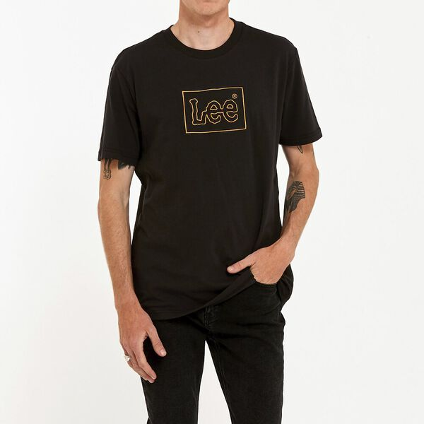 Lee Lines Tee Washed Black
