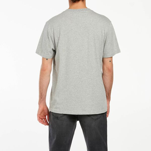 CLASSIC EMBROIDERY TEE GREY MARLE, GREY MARLE, hi-res