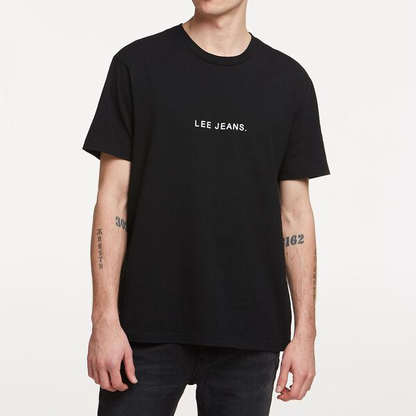LEE JEANS FLOCK TEE BLACK