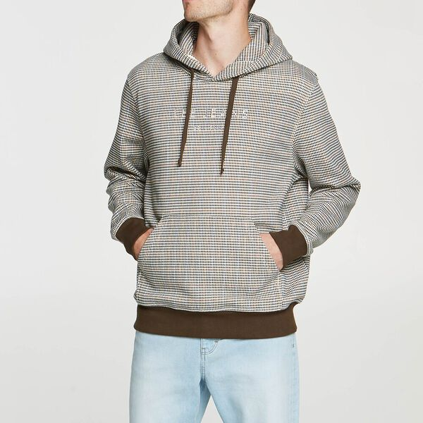 Lee Check Hoodie Brown Check