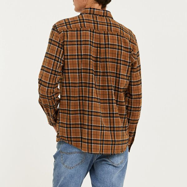Union Check Shirt Tan, Tan, hi-res