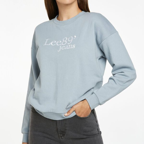 Olivia Logo Sweater, Pacific Blue, hi-res