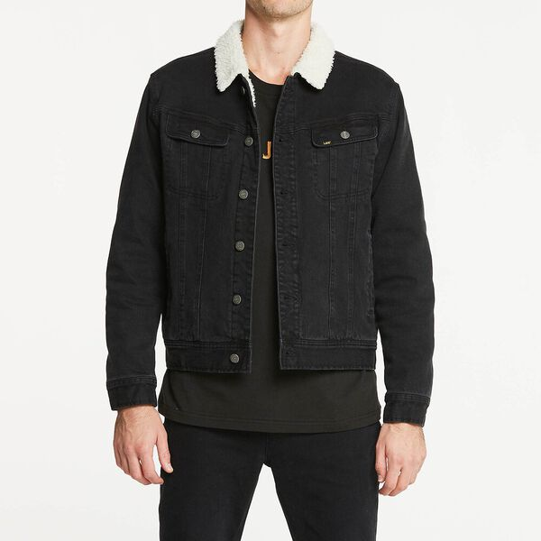101 Denim Sherpa Jacket Mid 90'S Black, MID 90'S BLACK, hi-res