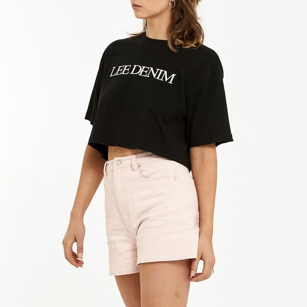 Baggy Crop Tee Black, Black, hi-res