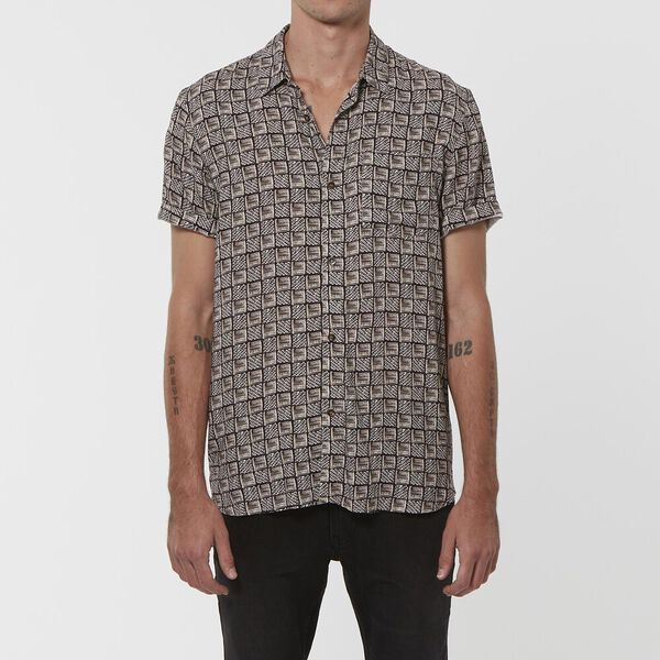 TRIBAL S/S SHIRT BLACK