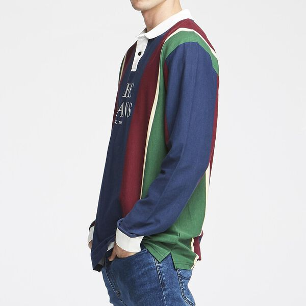 STREETS L/S POLO RE-UP STRIPE, RE-UP STRIPE, hi-res