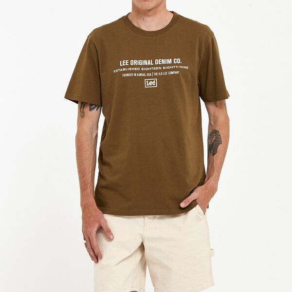 Denim Co Tee Military Green