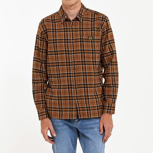 Union Check Shirt Tan