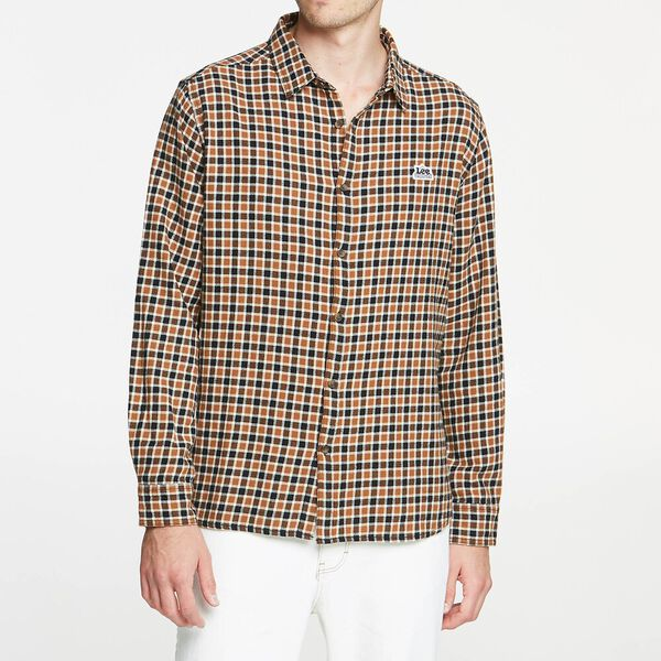 Union Made Shirt Brown Check, BROWN CHECK, hi-res