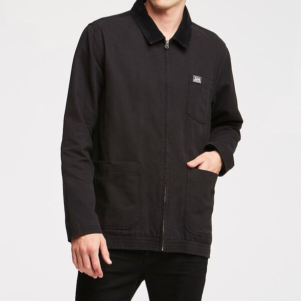 Union Jacket Black Canvas