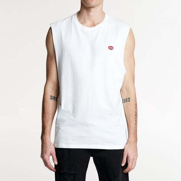 LEE NO BRAINER MUSCLE WHITE/RED