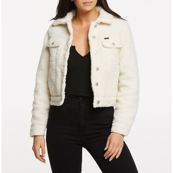 SHERPA TRUCKER JACKET VINTAGE WHITE