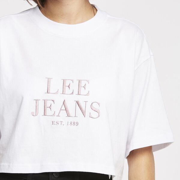 BAGGY CROP TEE WHITE, WHITE, hi-res
