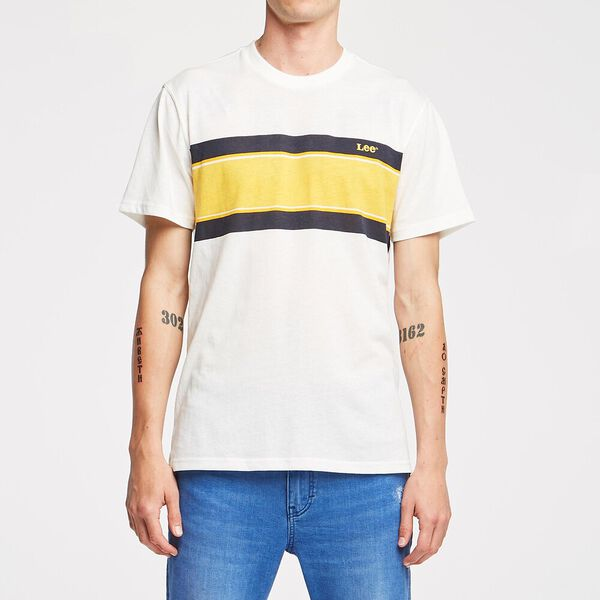 NO BRAINER TEE RACER STRIPE, RACER STRIPE, hi-res