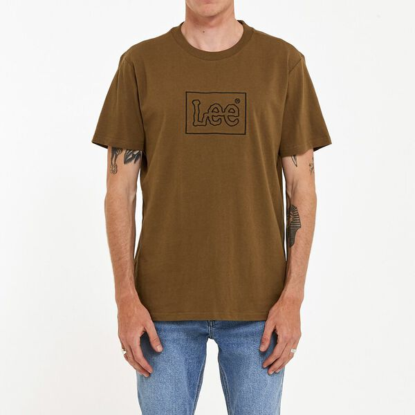 Lee Lines Tee Military Green, Military Green, hi-res