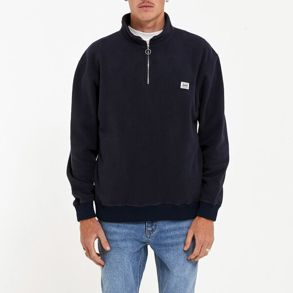 Polar Fleece Zip Sweat Navy