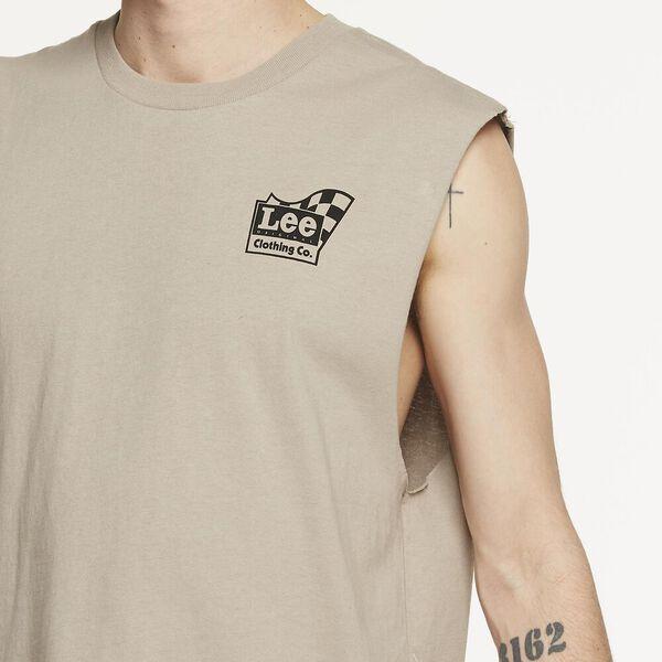 Lee Flag Muscle Vintage Khaki, VINTAGE KHAKI, hi-res