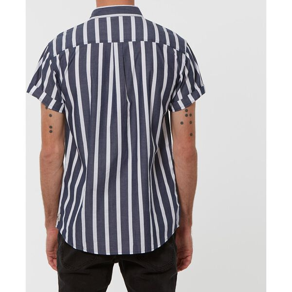 UNION S/S SHIRT, BLUE STRIPE, hi-res