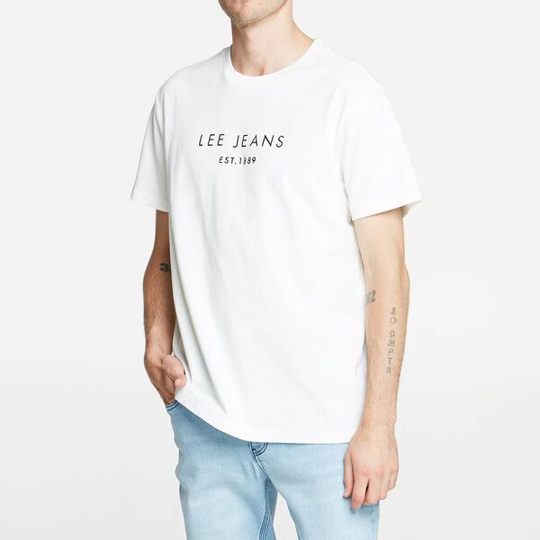Lee Paak Relaxed Tee White/Navy