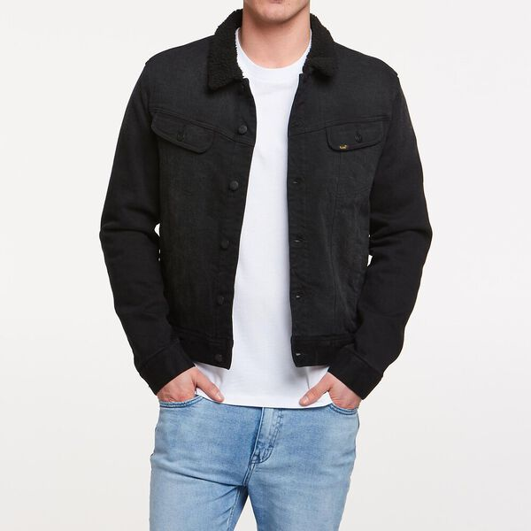 101 BLACK SHERPA JACKET BLACK