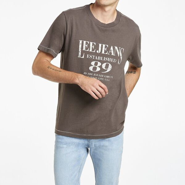 Lee Cannes 89 Tee Recycled Cotton, Faded Black, hi-res