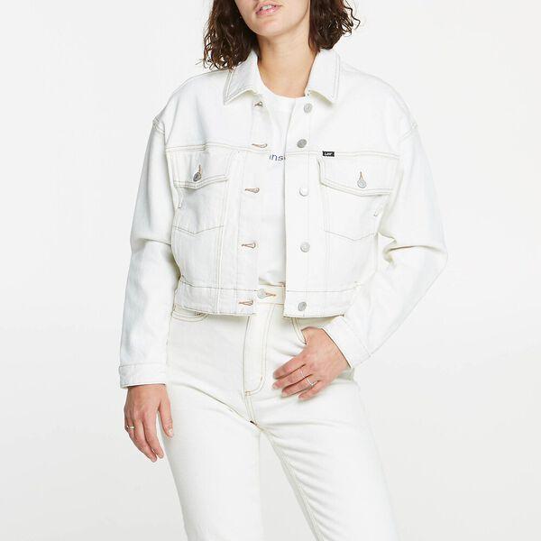 Volume Crop Jacket Ecru