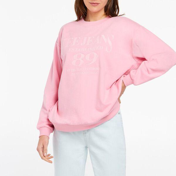Oversized Sweater, Prism Pink, hi-res