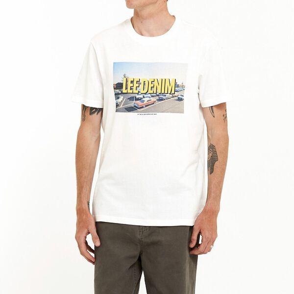 Lee Gridlock Tee Vintage White, Vintage White, hi-res