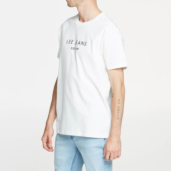 Lee Paak Relaxed Tee White/Navy, WHITE/NAVY, hi-res