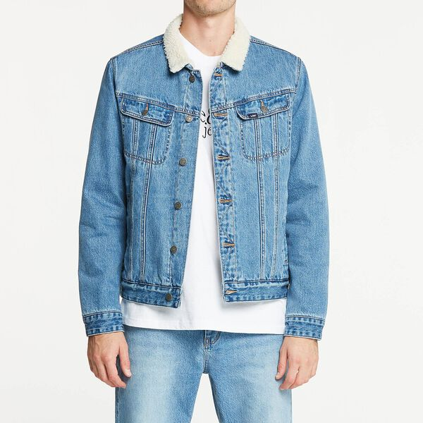 101 Denim Sherpa Jacket Acid Rain