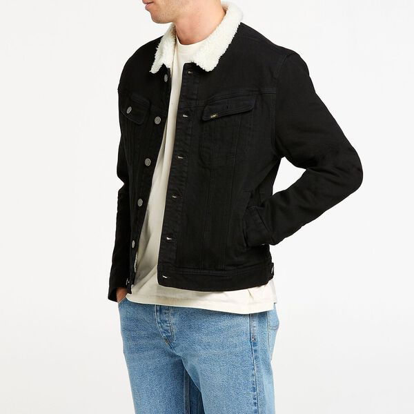 101 Denim Sherpa Jacket Mid 90'S Black