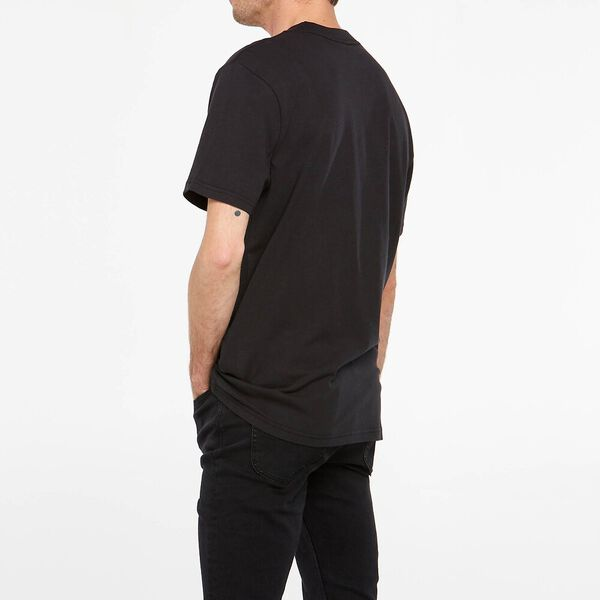 Lee Contrast Tee Recycled Cotton, Washed Black, hi-res