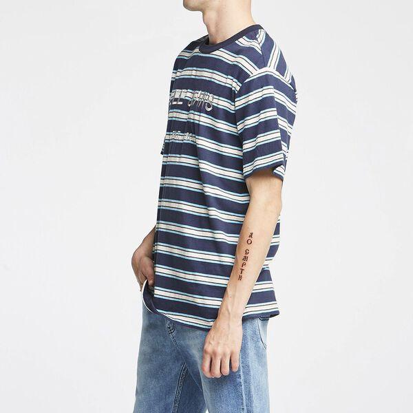 Relax Tee Blue Tone Stripe, BLUE TONE STRIPE, hi-res