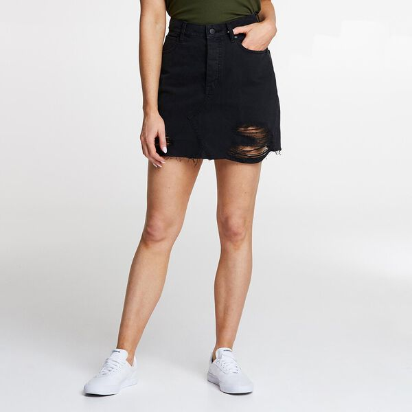 Riot Skirt Lunar Black Rip