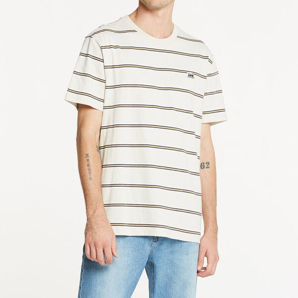 Courtshouse Tee Concrete Stripe