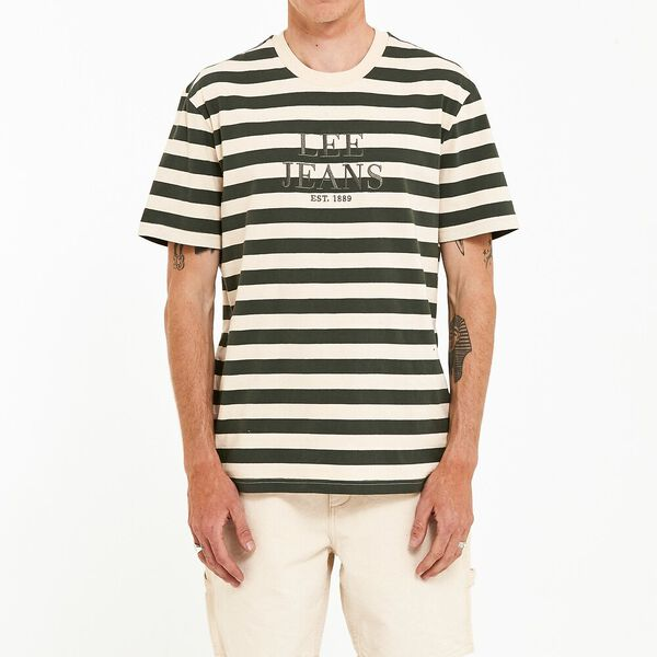 Lee Yongma Tee Forest Stripe, Forest Green Stripe, hi-res