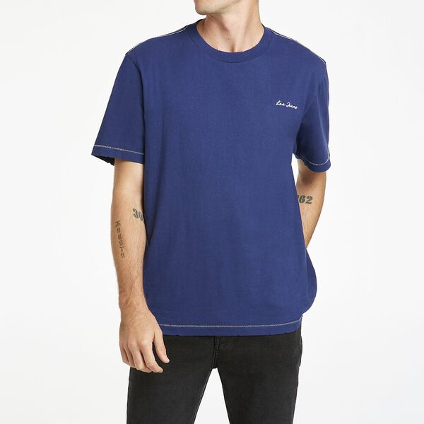 Lee Chain Stitch Tee Recycled Cotton