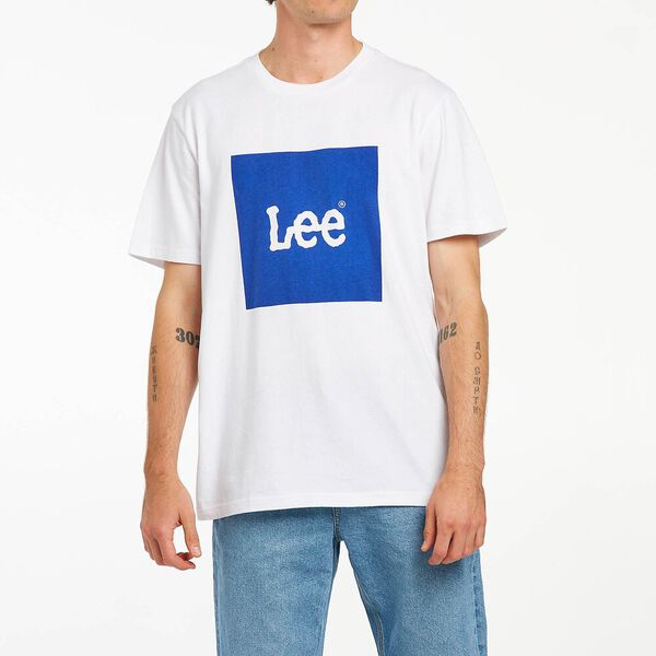 Lee Squared Tee Royal Blue