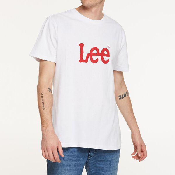 TWITCH LOGO TEE WHITE/RED