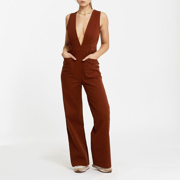 Holly Jumpsuit Burnt Orange