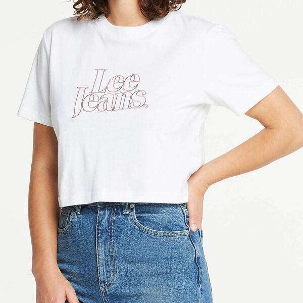 Classic Crop Tee White Fire, WHITE FIRE, hi-res